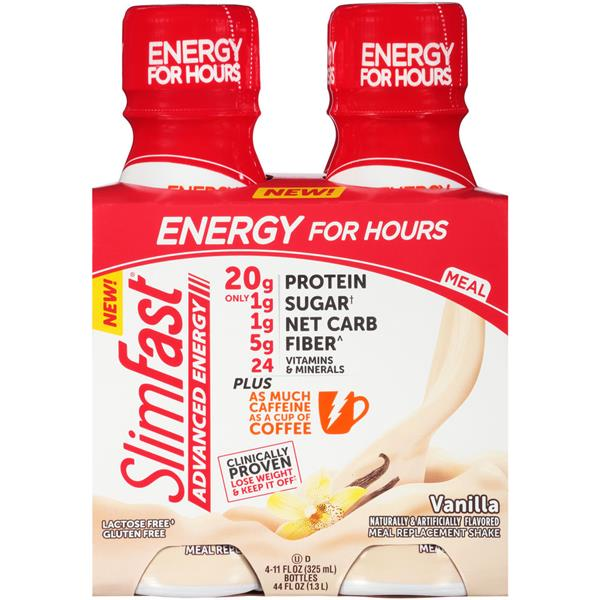 Slimfast Advanced Energy Vanilla Meal Replacement Shakes