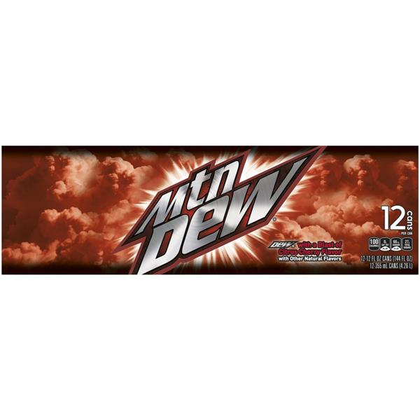 Mountain Dew Game Fuel Citrus Cherry 12 Pack