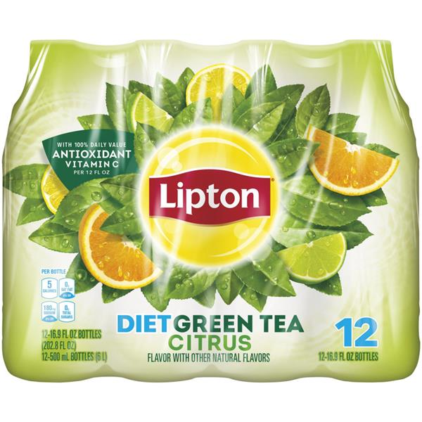 Lipton Diet Citrus Green Tea 12 Pack