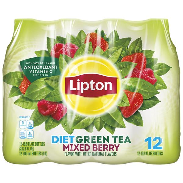 Lipton Diet Green Tea Mixed Berry 12 Pack