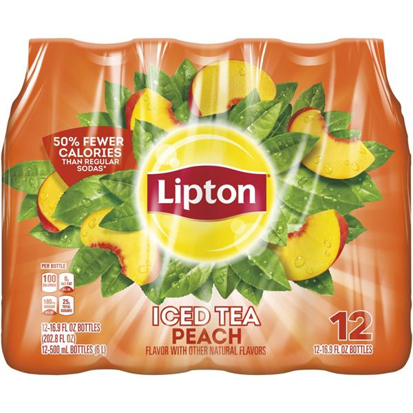 Lipton Peach Iced Tea 12 Pack
