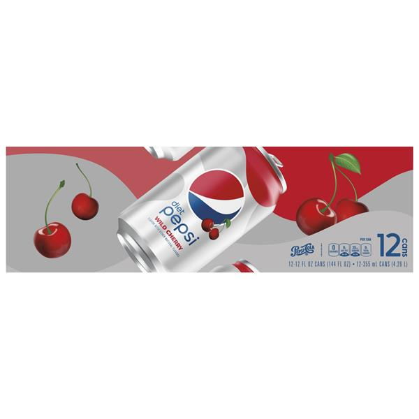 Diet Pepsi Wild Cherry Cola 12 Pack