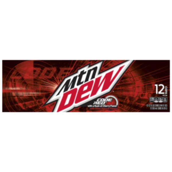 Mountain Dew Code Red 12 Pack