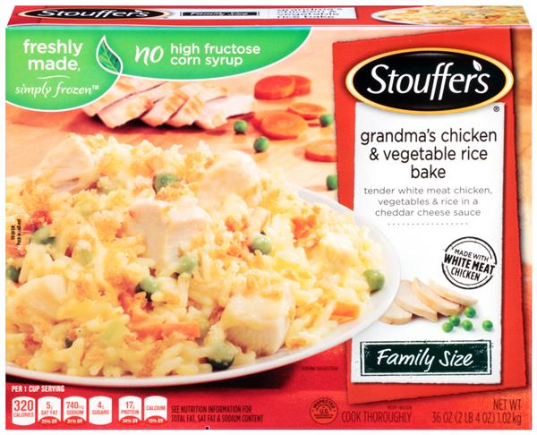 Stouffers Family Size Grandmas Chicken  Vegetable Rice -8180