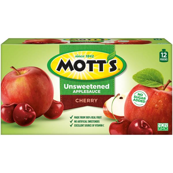 Mott's No Sugar Added Cherry Applesauce 12pk