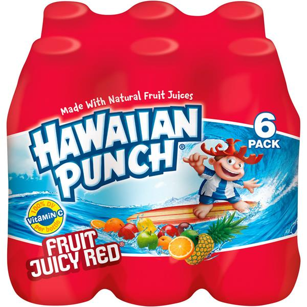 Hawaiian Punch Fruit Juicy Red Fruit Juice Drink 6Pk