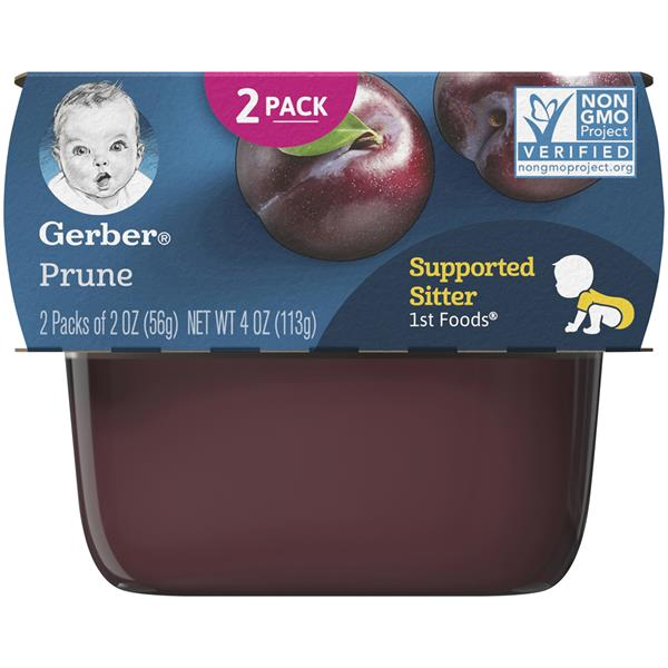 Gerber 1st Foods Prune 2 - 2 oz. Cups