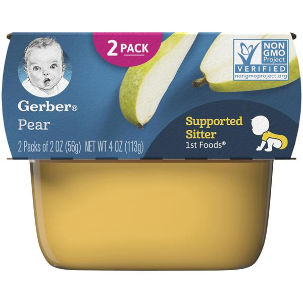 Gerber 1st Foods Pear 2 - 2 oz Cups