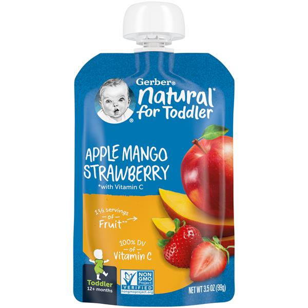 Gerber Natural Toddler Apple Mango Strawberry