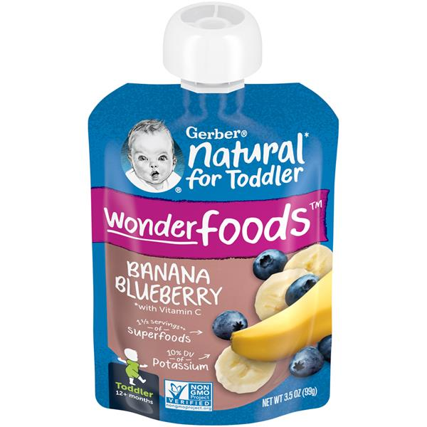 Gerber Toddler Banana Blueberry