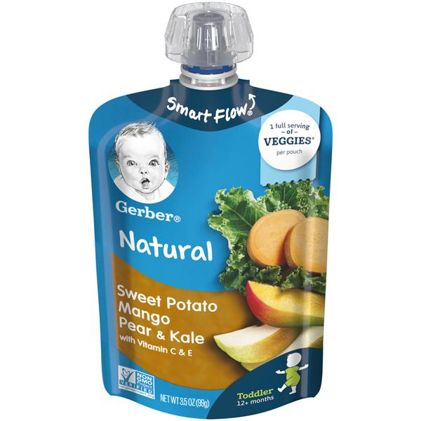 Gerber Strong Toddler Food, Sweet Potato Mango Pear Kale