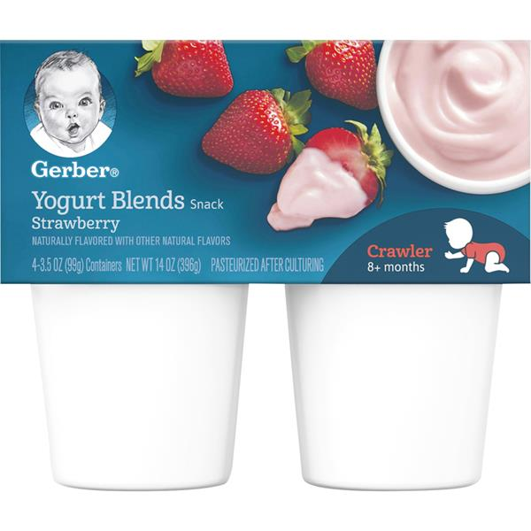 Gerber Strawberry Yogurt Blends 4Ct