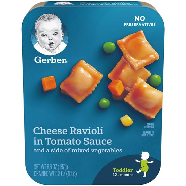 Gerber lil&#39 Entrees Cheese Ravioli in Tomato Sauce with Mixed Vegetables
