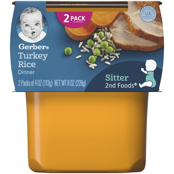 Gerber 2nd Foods Turkey & Rice Nutritious Dinner 2 Pack
