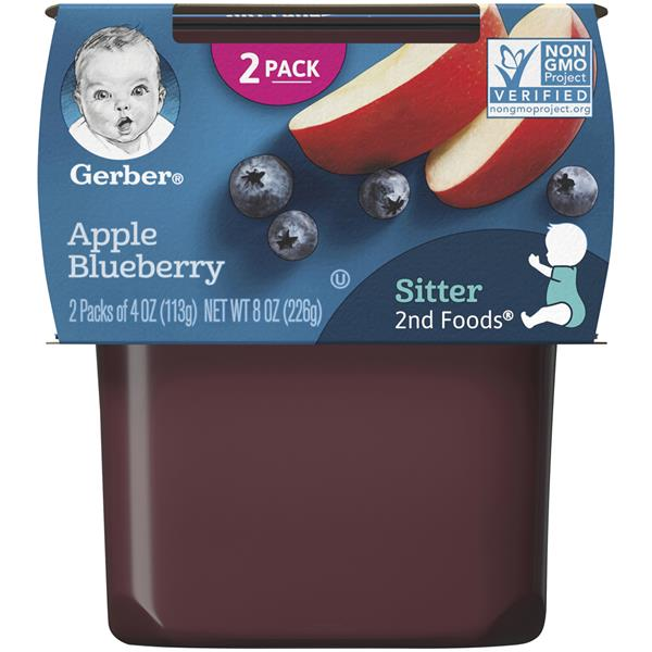 Gerber 2nd Foods Apple Blueberry Baby Food 2 Pack