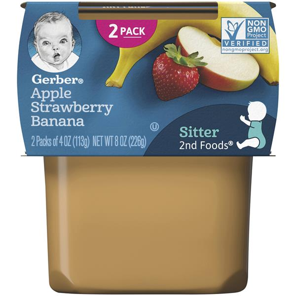 Gerber 2nd Foods Apple Strawberry Banana 2-4 oz