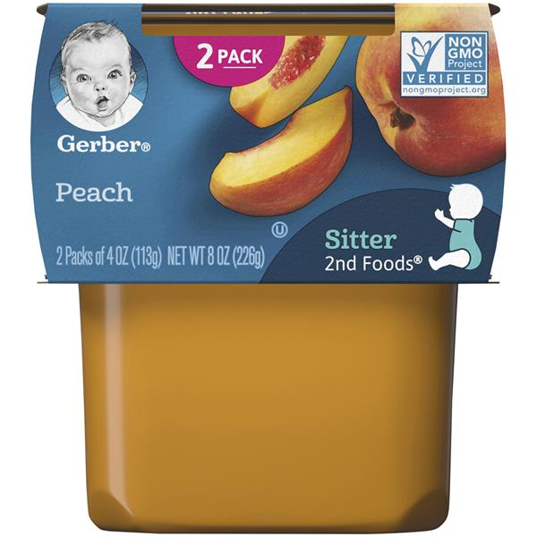 Gerber 2nd Foods Peaches Baby Food 2 Pack