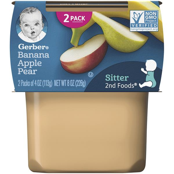 Gerber 2nd Foods Bananas with Apples & Pears Baby Food 2 Pack