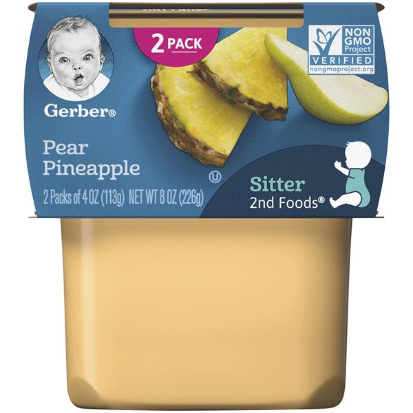 Gerber 2nd Foods Pear Pineapple Baby Food 2 Pack