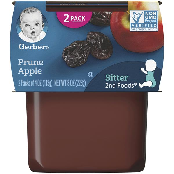 Gerber 2nd Foods Prunes with Apples 2 Pack