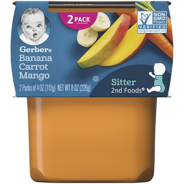 Gerber 2nd Foods Banana Carrot Mango 2 Pack