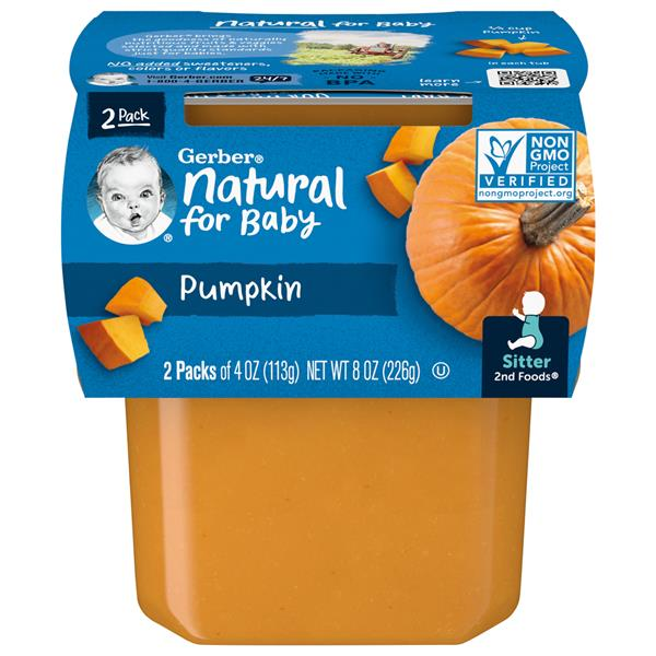 Gerber 2nd Foods Pumpkin Baby Food 2Pk