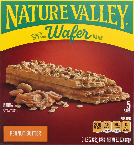 Nature Valley Crispy Creamy Wafer Bar, Peanut Butter 5-1.3 oz Bars