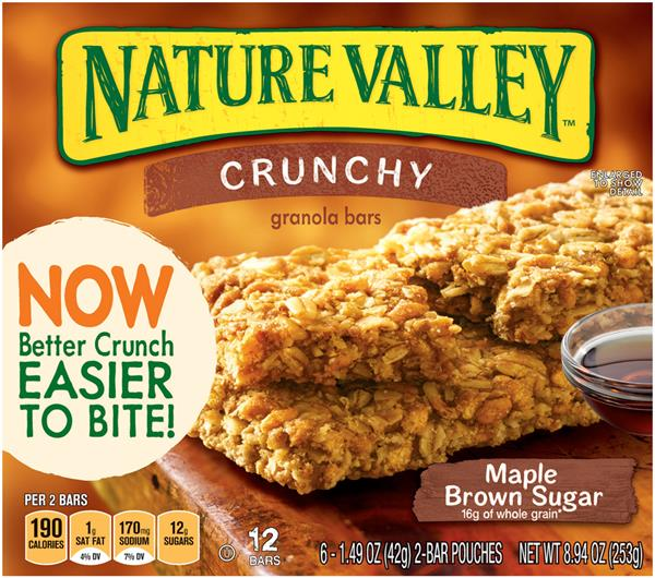 Nature Valley Maple Brown Sugar Crunchy Granola Bars 6-1.49 oz Pouches