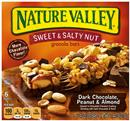 Nature Valley Dark Chocolate, Peanut & Almond Sweet & Salty Nut Granola Bars 6-1.24 oz Bars
