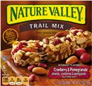 Nature Valley Cranberry & Pomegranate Chewy Trail Mix Granola Bars 6-1.1 oz Bars