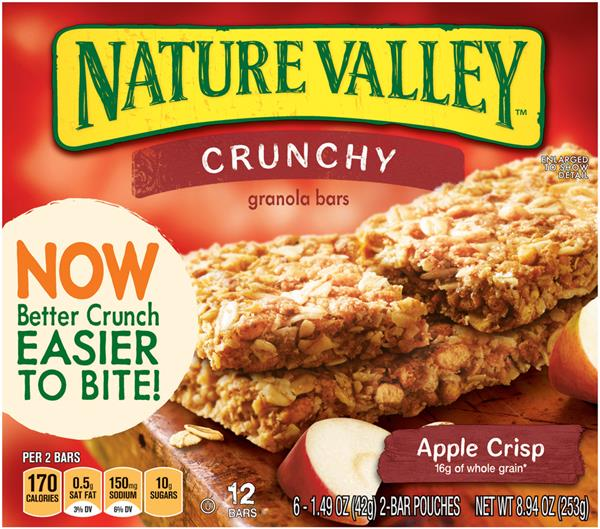 Nature Valley Apple Crisp Crunchy Granola Bars 6-1.49 oz Pouches