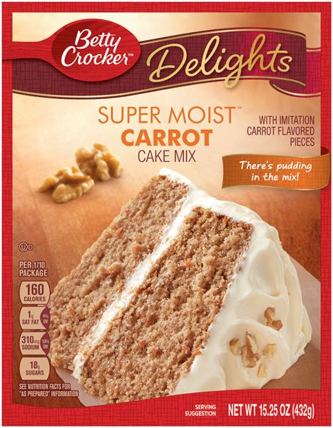 Super Moist Yellow Cake Mix Nutrition