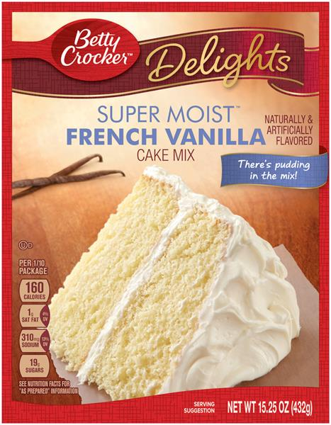 Betty Crocker Vanilla Cake Nutrition