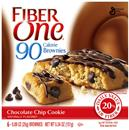 Fiber One 90 Calorie Chocolate Chip Cookie Brownies 6-0.89 oz Brownies
