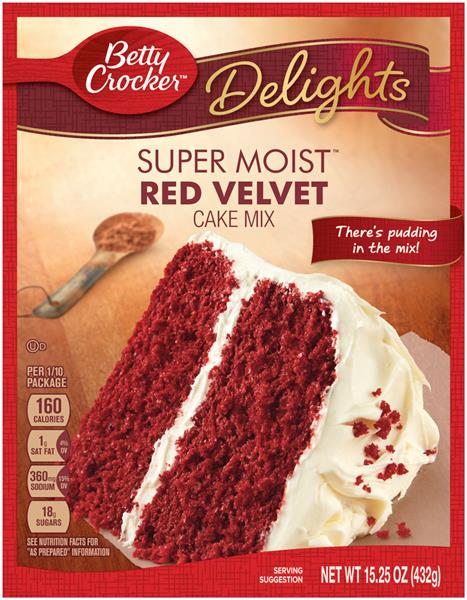 Betty Crocker Delights Super Moist Red Velvet Cake Mix ...