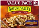 Nature Valley Peanut/Almond Sweet & Salty Nut Granola Bars Variety Pack 12-1.2 oz Bars
