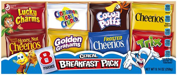 General Mills Breakfast Pack Ceral 8Ct