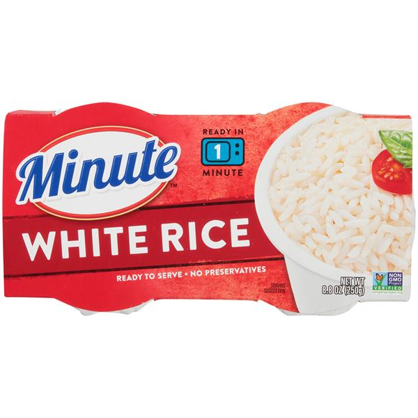 Minute Ready to Serve Long Grain White 2 Ct Cups