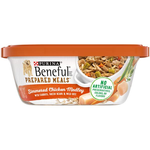 Purina Beneful Prepared Meals Simmered Chicken Medley Dog Food