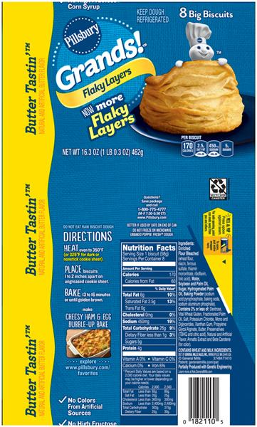 Pillsbury Grands! Flaky Layers Butter Tastin' Biscuits 8Ct