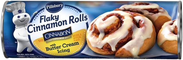 Pillsbury Flaky Cinnamon Rolls with Butter Cream Icing 8 ct