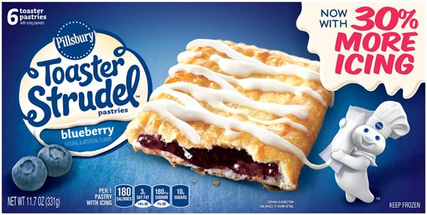 Pillsbury Toaster Strudel Blueberry Toaster Pastries 6Ct
