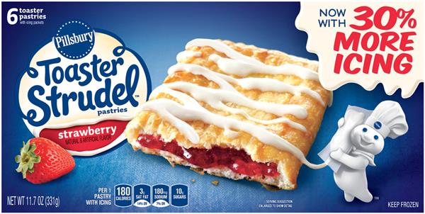 Pillsbury Toaster Strudel Strawberry Toaster Pastries 6Ct