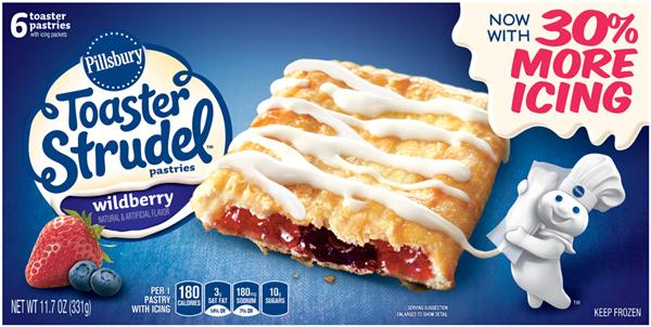 Pillsbury Toaster Strudel Wildberry Toaster Pastries 6Ct
