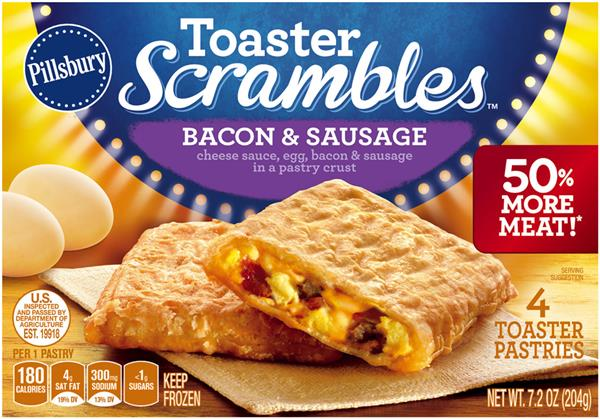 Pillsbury Toaster Scrambles Bacon Sausage Toaster Pastries 4 Count