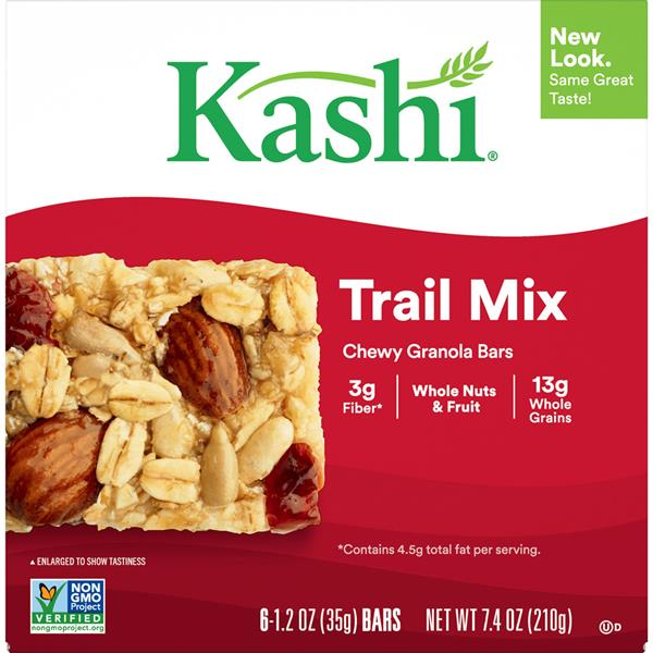 Kashi Trail Mix Chewy Granola Bars 6-1.2 oz Bars