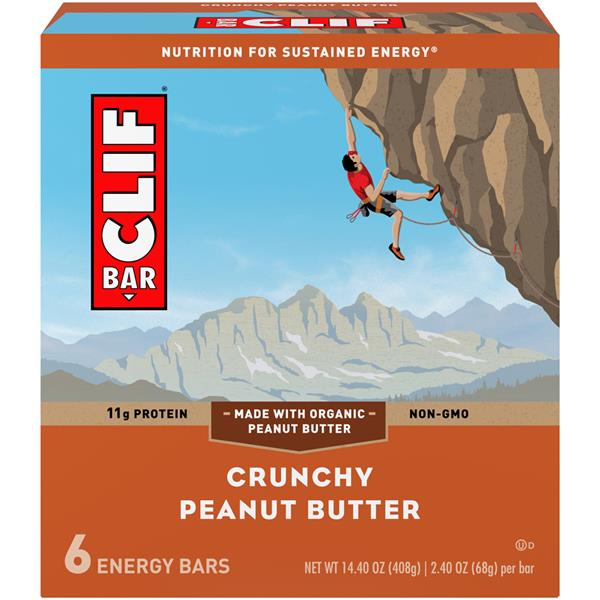 Clif Bar Crunchy Peanut Butter Energy Bar - 6 Pk