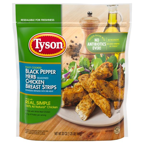 Tyson Black Pepper Herb Seasoned Chicken Breast Strips