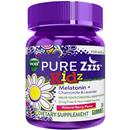 Vicks PURE Zzzs Kidz Melatonin + Lavender & Chamomile Sleep Aid Gummies for Kids & Children, Natural Berry Flavor