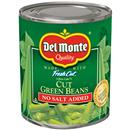 Del Monte Blue Lake No Salt Added Cut Green Beans